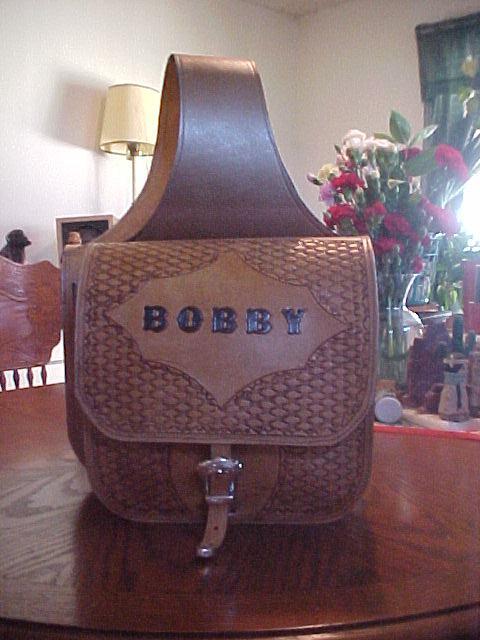 Custom Tooled Saddle Bags