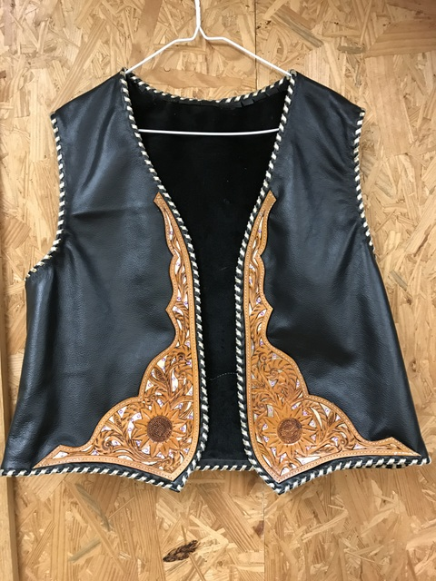 MRKT Custom Tooled Design Vest