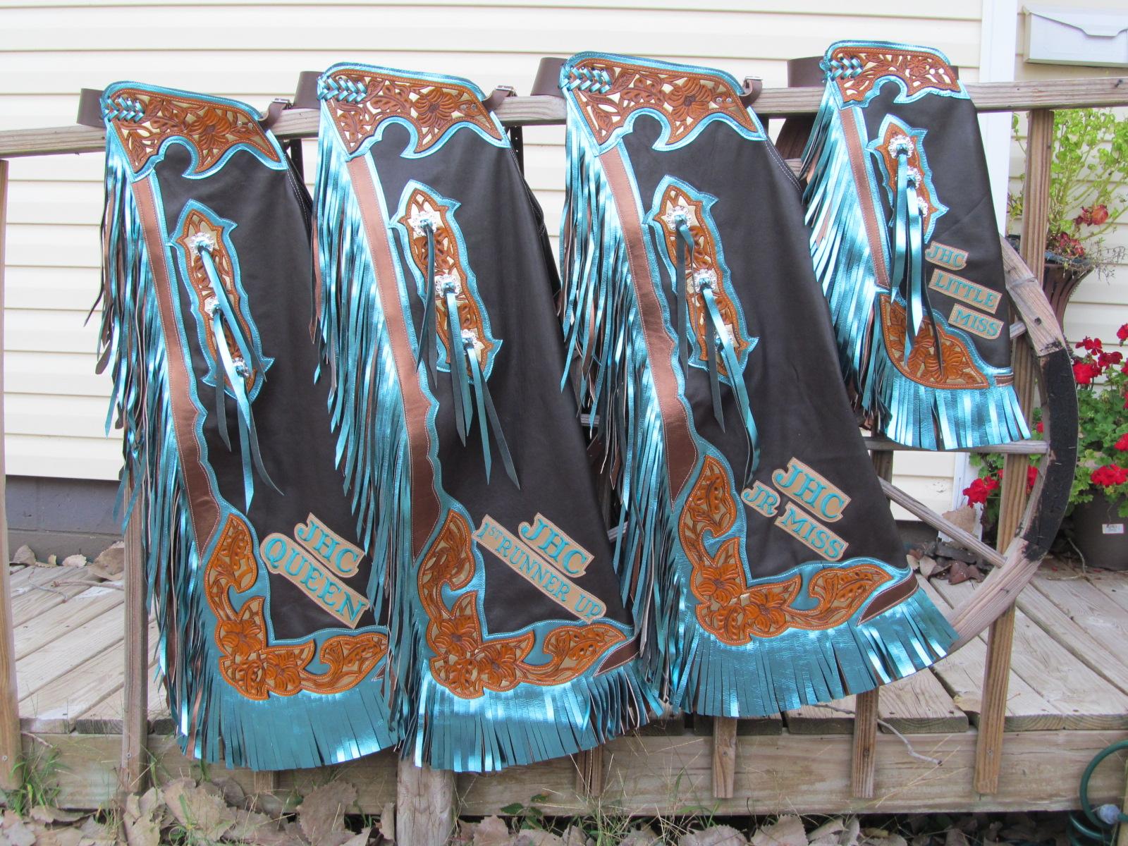 Rodeo Queen Chaps,Jim Hogg Co. Chap & 3 Queens