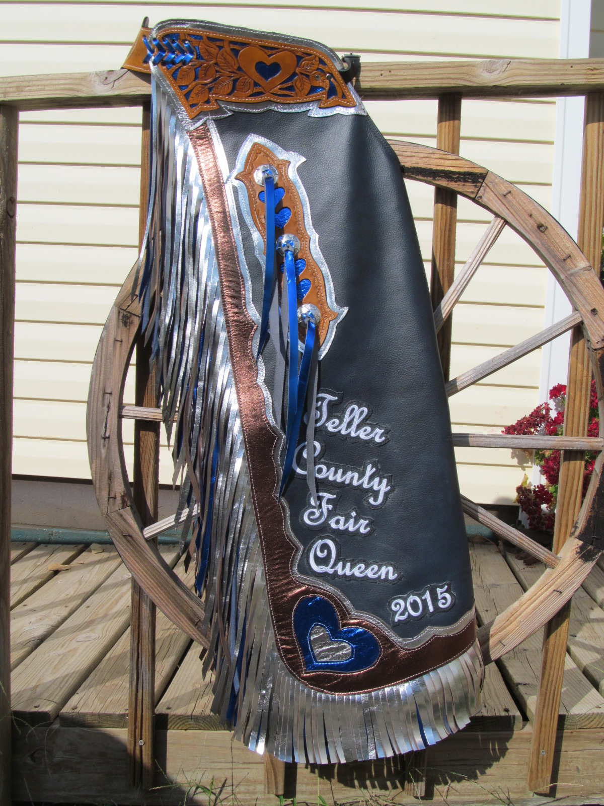 Rodeo Queen Chaps,Custom Hearts Rodeo Queen Chaps