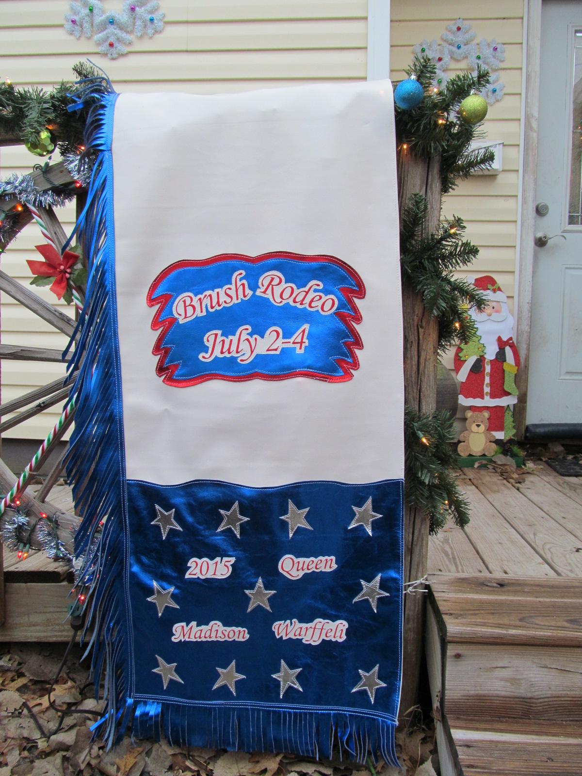 Butt Blanket Matching Rodeo Queen Chaps