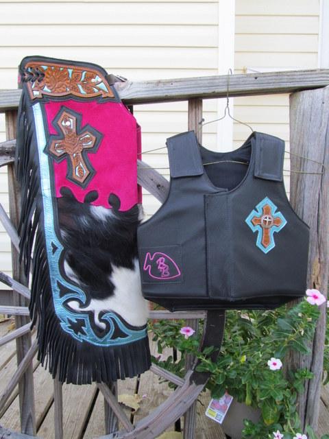 Jr.Bullriding Chaps&Vest, Mutton Bustin Vest & Chaps