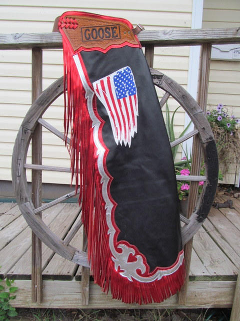 Distressed Flag Rodeo Chaps