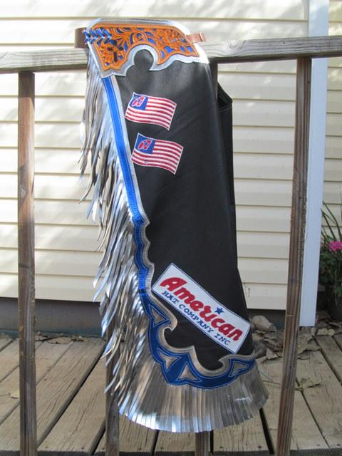 Custom America Hat Sponsor Chaps