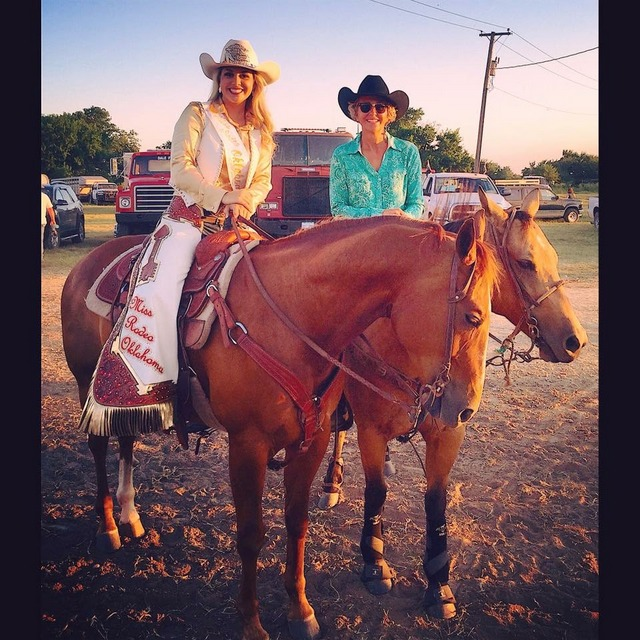 Miss Rodeo Oklahoma Queen Chaps & Mom