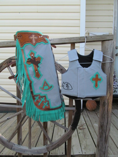 Mutton Bustin Chaps&Vest,Youth Riding Vest, Mutton Bustin Vest