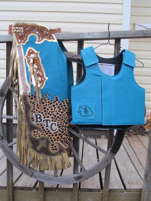 Bullriding Chaps Amp Vest Mutton Bustin Chaps Amp Vest Rodeo