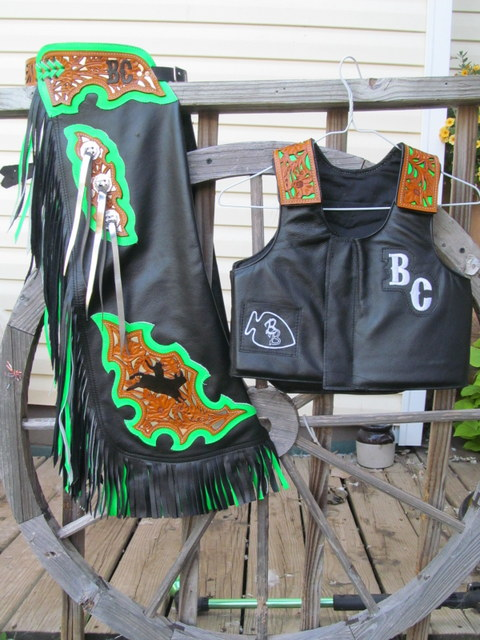 Pro BullRiding, RoughStock thru Mutton Bustin, Flame Design Chaps