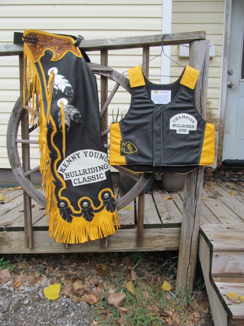 Steer Riding Chaps, Rodeo Chaps,Feather Design Chaps