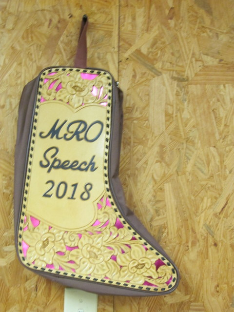 Custom Hand Tooled &/or Embroidered 2018 MRO Awards,Boot Bag
