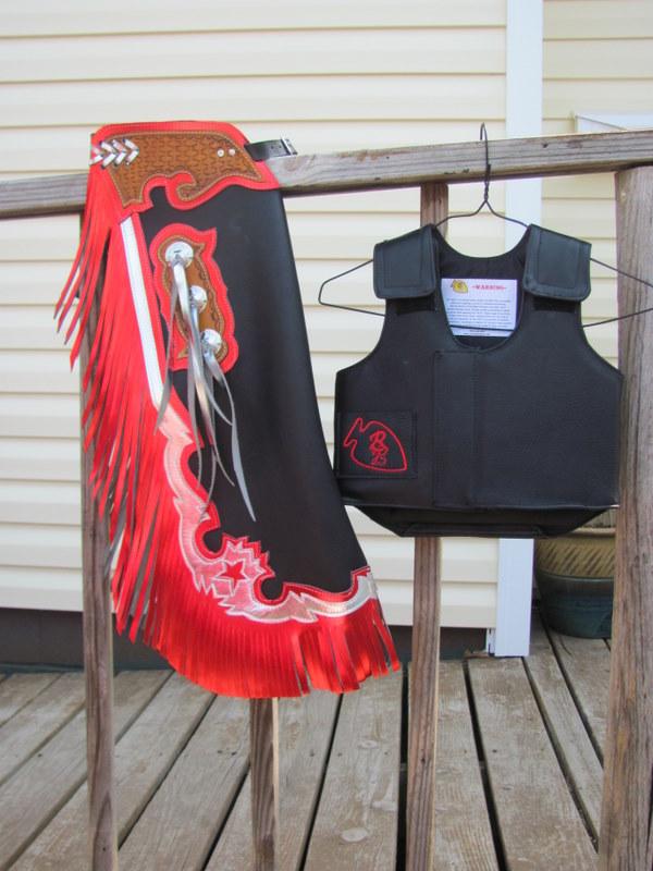 Mutton Bustin Chaps & Protective Vest Set